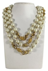 Chanel Gold and Pearl Necklace