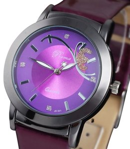 Luxury Rhinestone Purple Quartz Watch Free Shipping