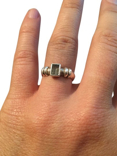 Other Blue Stone Sterling Silver Ring Sz 7.0