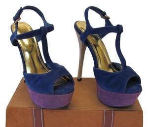 Liliana New Excellent Condition Size 8.50 blue, purple, neutral Platforms