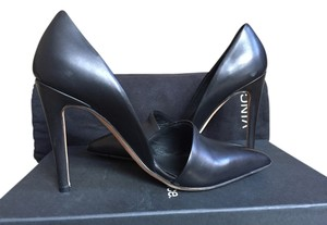 Vince Heels Anya Stiletto Made In Italy Italian Leather Italian Italian Heels Pointed Toe Black Pumps