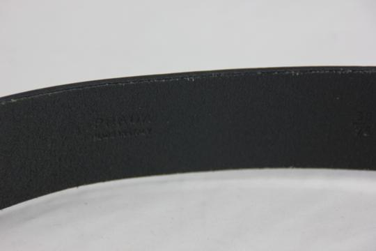 Prada * Prada Printed-Buckle Saffiano Leather Belt - 38/95 Black