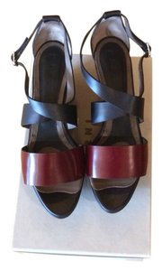 Marni Black/burgundy Wedges