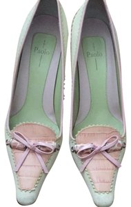 Linea Paolo Cream, Pink, Green Pumps