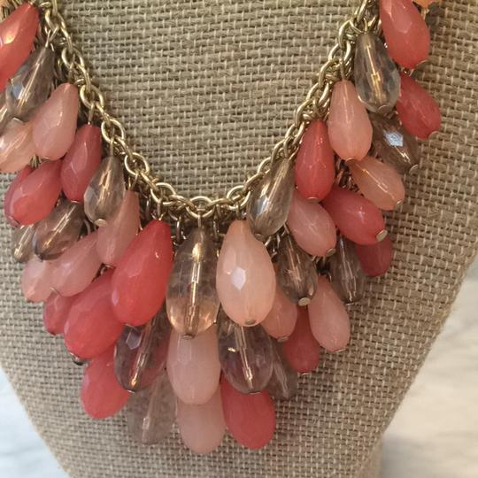 Fig leaf Coral And Pink Necklace