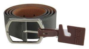 Neiman Marcus Neiman Marcus Pebbled Leather Belt - 36 - Grey