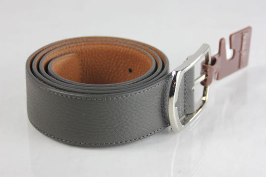 Neiman Marcus Neiman Marcus Pebbled Leather Belt - 36 - Grey Image 1