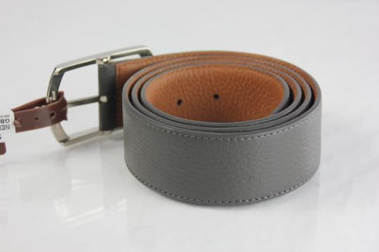 Neiman Marcus Neiman Marcus Pebbled Leather Belt - 36 - Grey Image 2