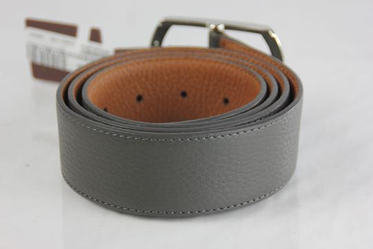 Neiman Marcus Neiman Marcus Pebbled Leather Belt - 36 - Grey Image 3