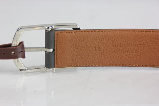 Neiman Marcus Neiman Marcus Pebbled Leather Belt - 36 - Grey Image 4