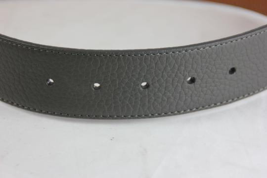 Neiman Marcus Neiman Marcus Pebbled Leather Belt - 36 - Grey Image 6