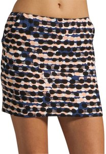 Diane von Furstenberg Tweed Polka Dot Mini Skirt multi