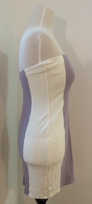 Velvet by Graham & Spencer short dress White/DAarkLavender on Tradesy