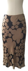Max Studio Skirt Tan And Brown