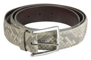 Neiman Marcus * W.Kleinberg for Neiman Marcus Glazed Python Belt - 40 -Black/White