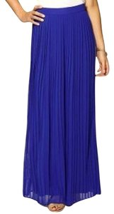 Sabine Pleated Maxi X-small Xs Maxi Skirt Blue