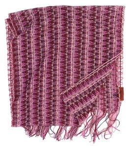 Missoni Pink Knit Mohair Blend Scarf (One Size)