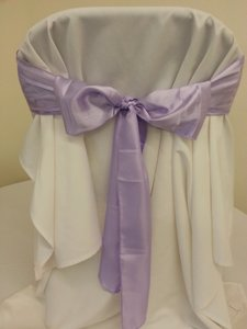 50 Lavender Satin Chair Sashes