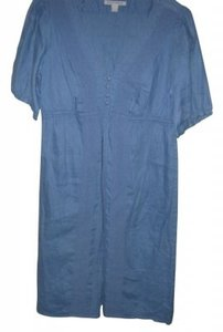 Banana Republic short dress blue 100%linen on Tradesy