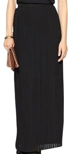 Sabine Pleated Maxi X-small Xs Skirt Black