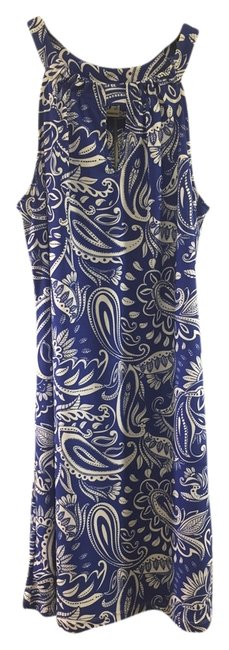 Blue & White Sundress and Easy Fun Versatile Above Knee Short Casual Dress Size 6 (S) Blue & White Sundress and Easy Fun Versatile Above Knee Short Casual Dress Size 6 (S) Image 1