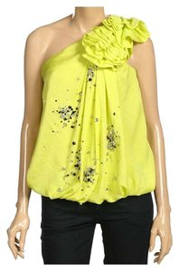 Robert Rodriguez Bright Sparkle Beaded Diamond Top Acid / Yellow / Green