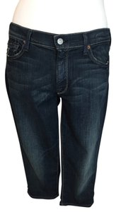 7 For All Mankind Capri Cropped Long Shorts Capri/Cropped Denim-Distressed