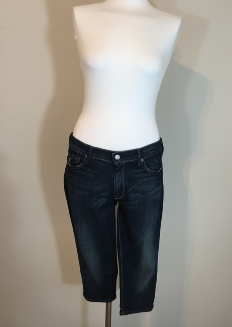 7 For All Mankind Long Shorts Capri/Cropped Denim-Distressed Image 1