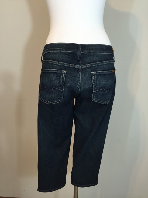 7 For All Mankind Long Shorts Capri/Cropped Denim-Distressed Image 2
