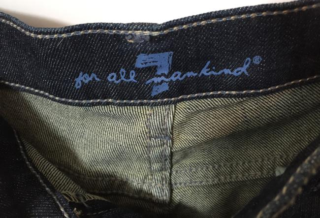 7 For All Mankind Long Shorts Capri/Cropped Denim-Distressed Image 3