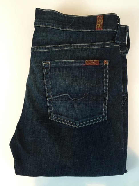 7 For All Mankind Long Shorts Capri/Cropped Denim-Distressed Image 6