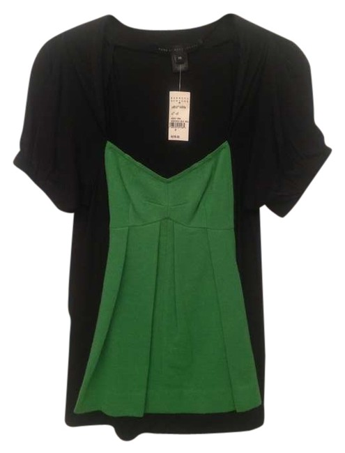 Marc by Marc Jacobs Wool Rayon Dryclean Only T Shirt Black / Green