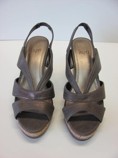 Impo Very Good Conditon Size 7.50 LIGHT BROWN Wedges Image 1