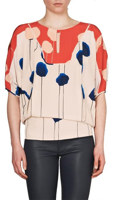 Diane von Furstenberg Top orange, blue, cream
