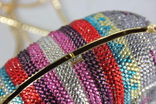Kate Landry Crystal Fun Prom Multicolor Clutch Image 5