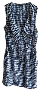 BeBop short dress blue and white Size Small Summer Pockets Collar on Tradesy