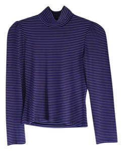 Betsey Johnson Striped Top Purple/Black