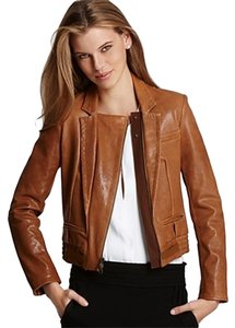 Diane von Furstenberg brown Leather Jacket