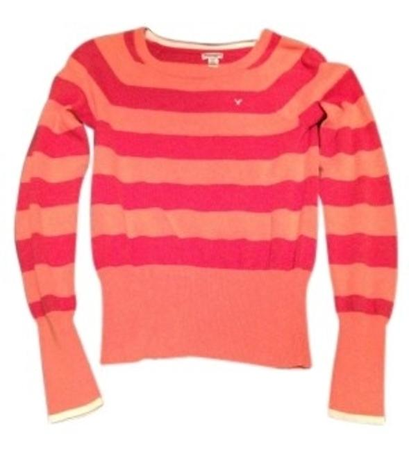 Preload https://item1.tradesy.com/images/american-eagle-outfitters-orange-and-red-crew-neck-sweaterpullover-size-8-m-38865-0-0.jpg?width=400&height=650