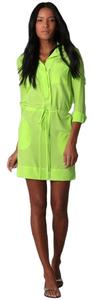 Diane von Furstenberg short dress green on Tradesy