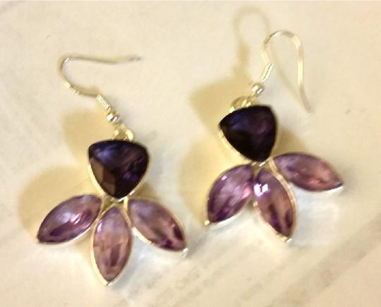 Other Sterling Silver & Amethyst Necklace & Earring Set Image 2