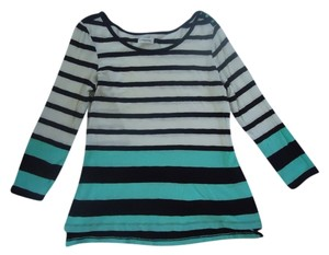 Anthropologie Cotton Knit Striped T Shirt