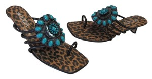 VIA ACCENTI New Size 8 BROWN, TURQUOISE Sandals