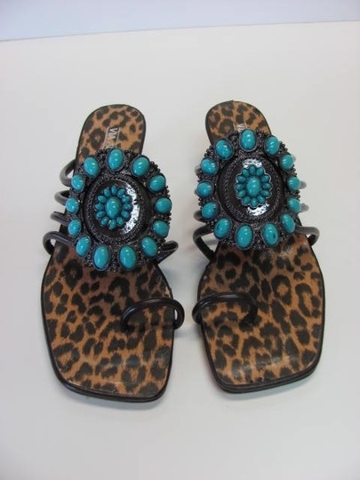 VIA ACCENTI New Size 8.00 M BROWN, TURQUOISE Sandals