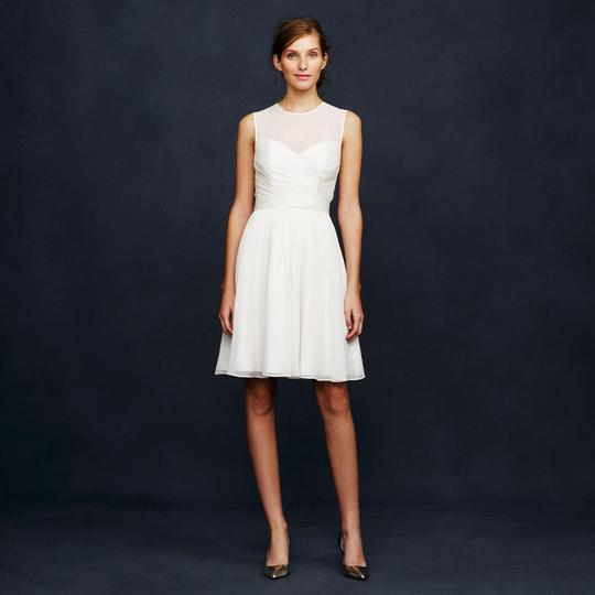 J.Crew Ivory Silk Chiffon Clara Destination Wedding Dress Size 6 (S)