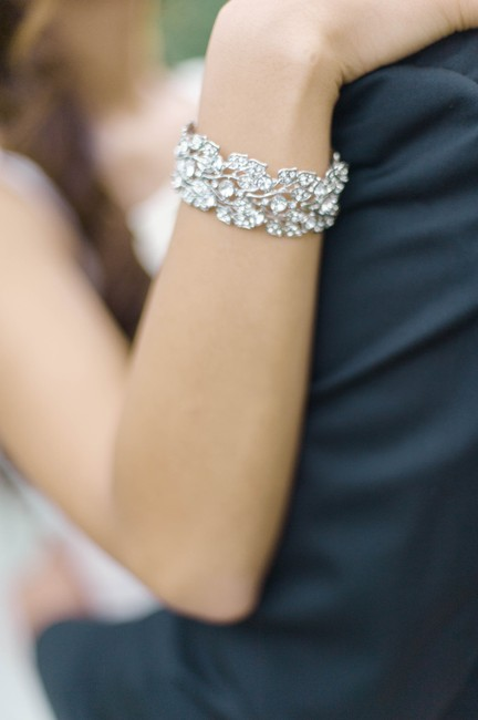 Item - Silver with Diamonds And Statement Bracelet