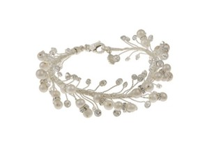 Tacori Tacori Bridal Evening Sterling Silver Pearl & Crystal Bracelet