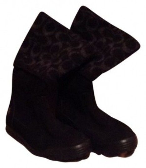 Preload https://item3.tradesy.com/images/coach-black-suede-with-gray-wool-logo-bootsbooties-size-us-6-38877-0-0.jpg?width=440&height=440