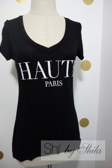 Other Haute Paris Tee Haute Paris Paris French France French Tee Paris Tee Paris Paris Paris Tees Chic Chic Chic Paris Tee T Shirt Black