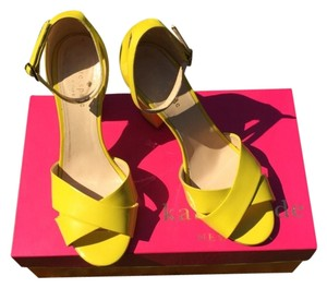 Kate Spade Yellow Platforms